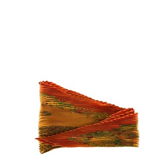 orange-pleated-silk-scarf
