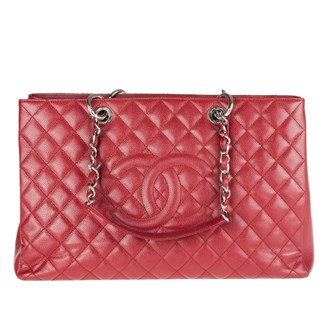 red-large-caviar-leather-shopping-bag
