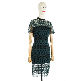 green-perforated-dress