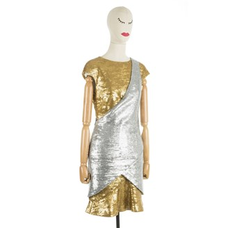 silver-gold-sequinned-short-dress