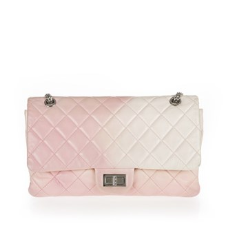 baby-pink-white-ombre-quilted-leather