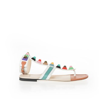 multicolored-studded-flat-sandals