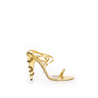 gold-sandals-with-bow-snake-design-on-heel