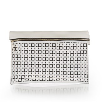 white-black-leather-clutch