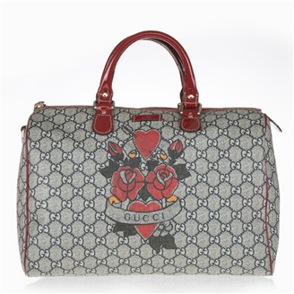 red-navy-fabric-monogram-handbag