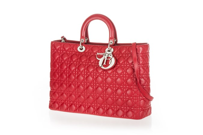 683e43a3e24c1 Garage Luxe - Red Large Lady Dior Bag